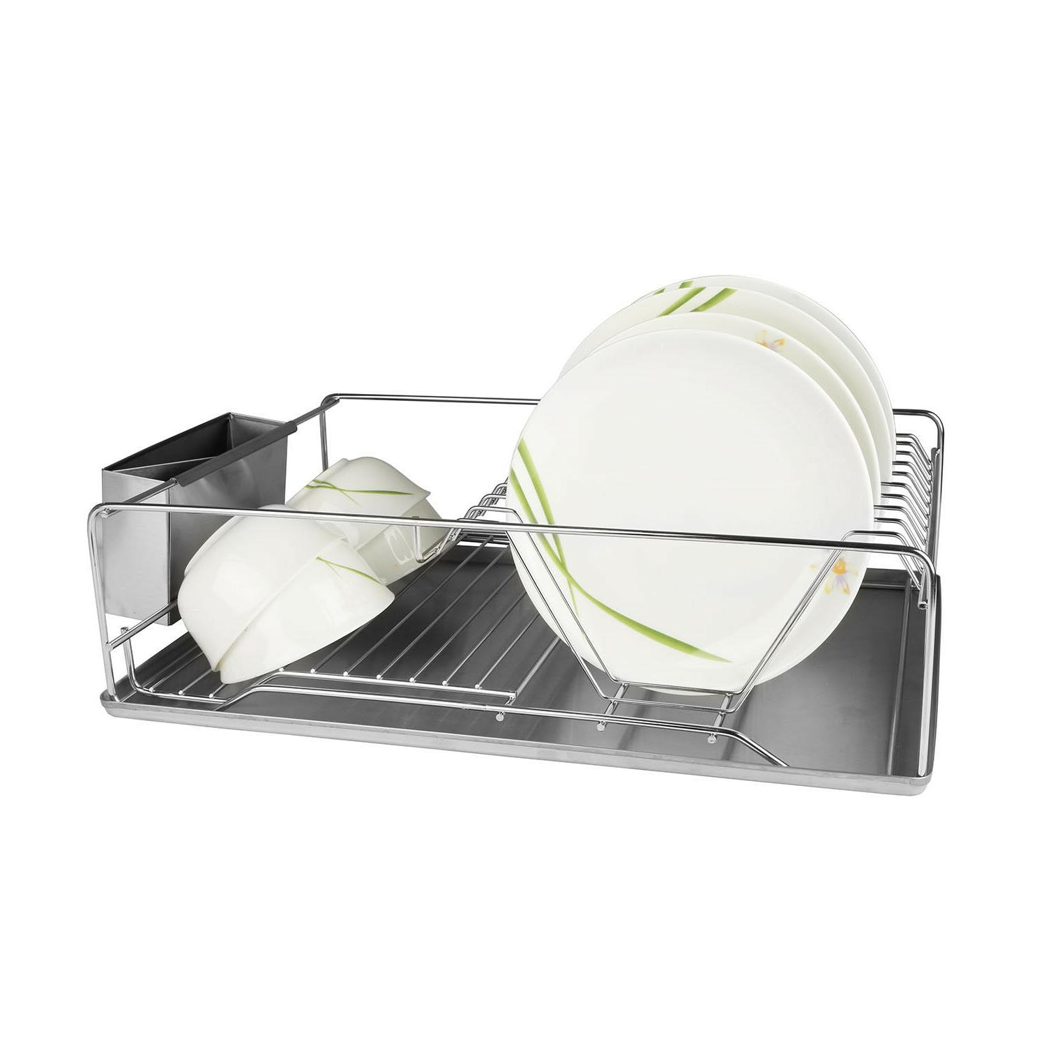 Stainless Steel Drying Rack Drainer Tray Multi-function