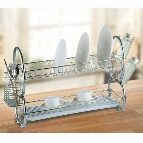 Diamond Home Steel 2 Tier Drying Rack Board
