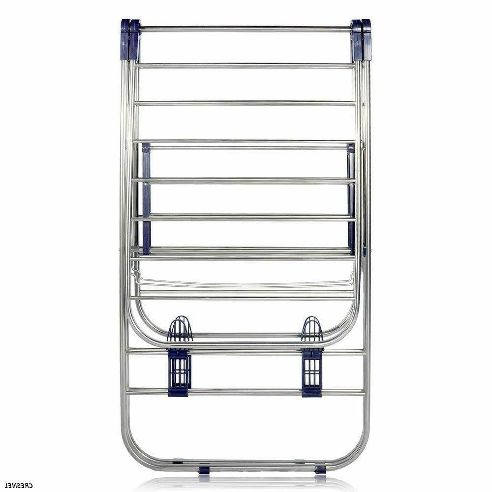 CMT STAINLESS STEEL DRYING RACK ADJUSTABLE GULLWING AND