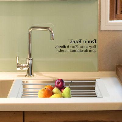 Foldable Dish Drying Rack Holder Drying Sink Kitchen Tool Dr