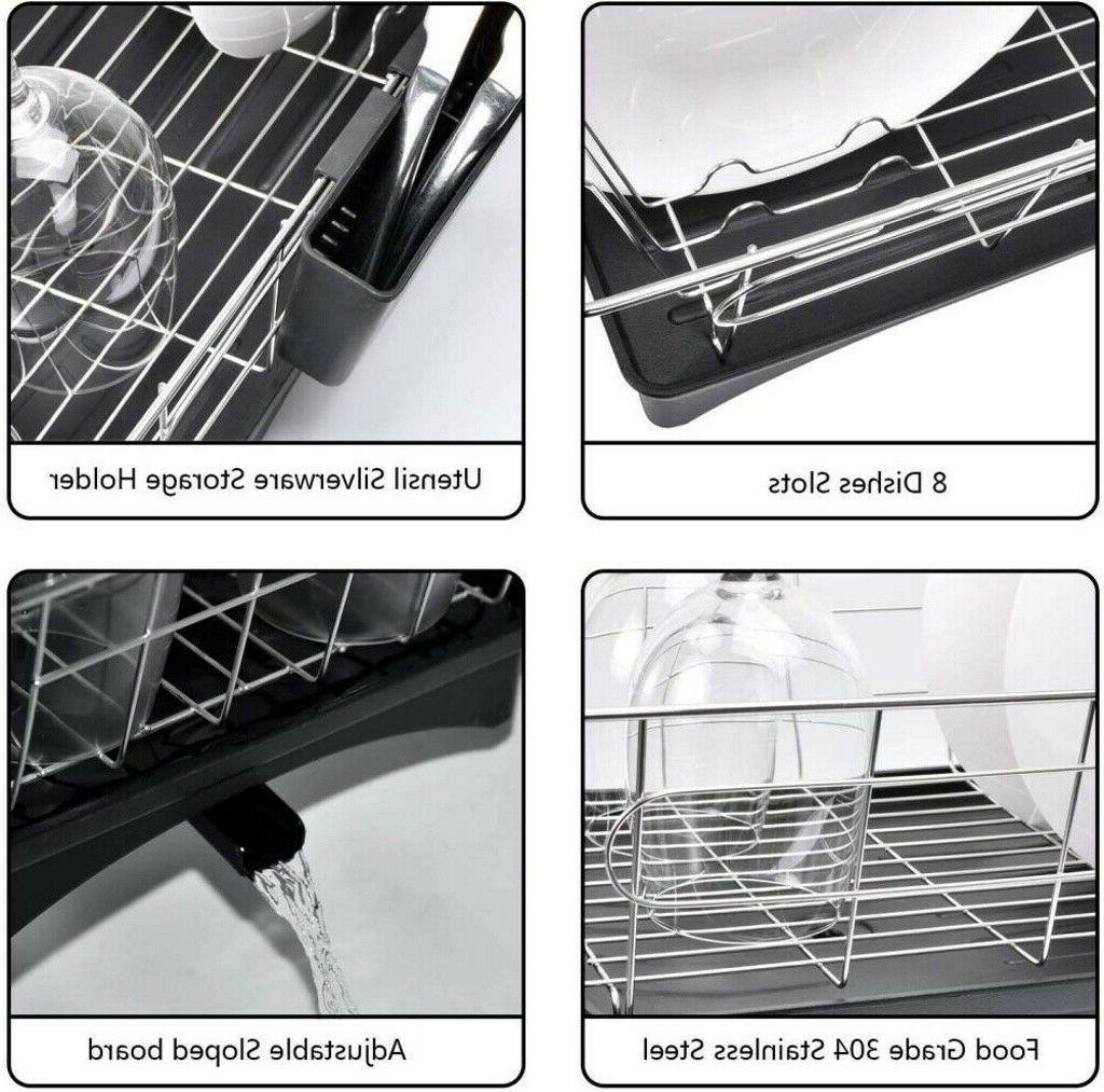 Stainless Dish Rack Drainer Holder Storage Kitchen Space