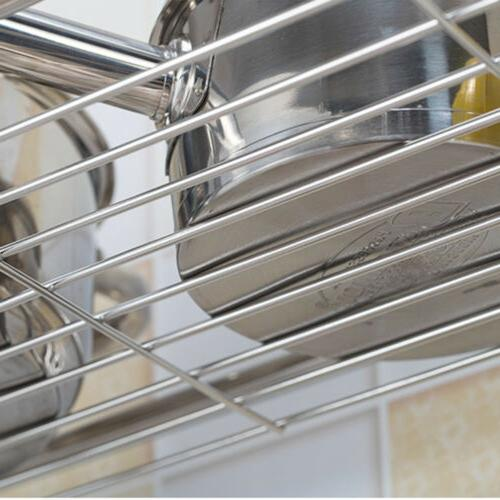 Stainless Dish Rack Sink Bowl Shelf Organizer Cutlery Holder