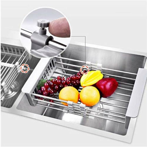 Stainless Steel Rack Expandable Sink Organizer