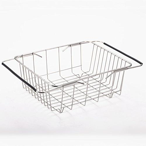 stainless steel drain basket retractable