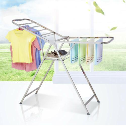 stainless steel foldable clothes drying rack laundry