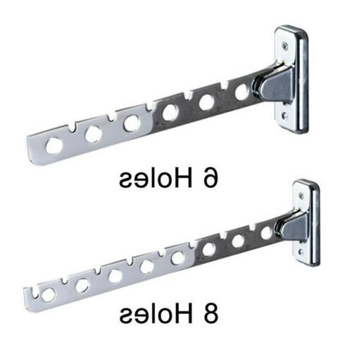 stainless steel folding wall mount hanger retractable