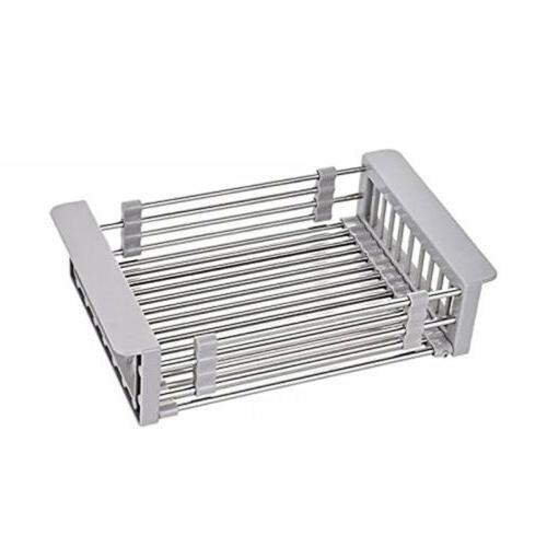 Stainless Steel Drying Rack Telescopic Basket