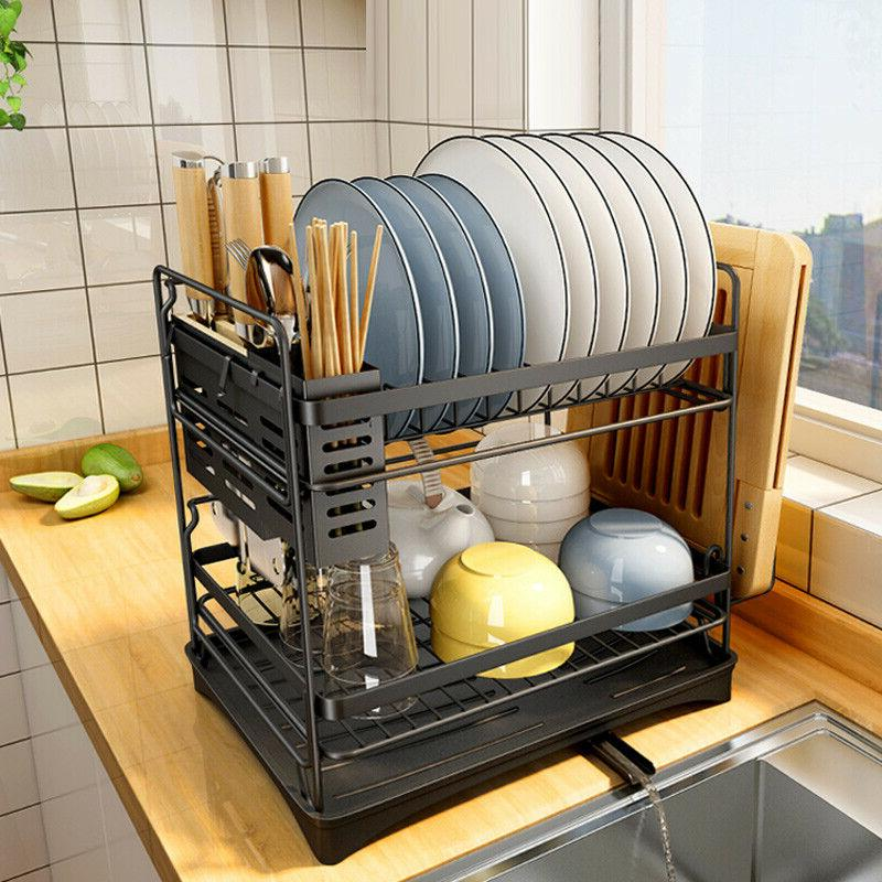 stainless steel kitchen shelf dish drying rack
