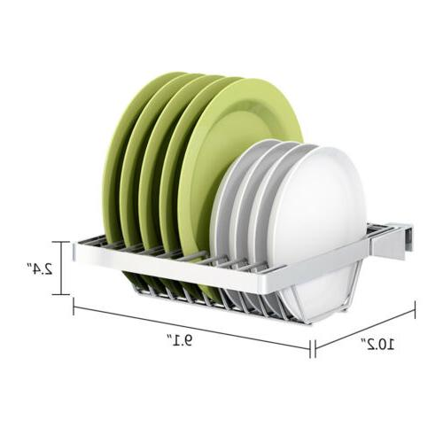Stainless Rack Drying Drain Holders Plate Dish