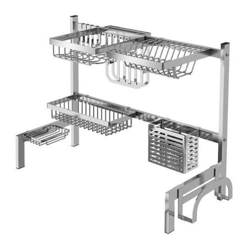 Stainless Steel Kitchen Rack Drying Drain Holders Plate Rack