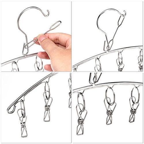 3 Pack Stainless Laundry Hanger 10 For Socks,Drying Diapers, Socks