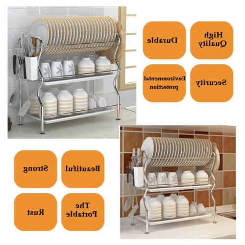 Stainless Steel Sink Dish Drying Rack Shelf