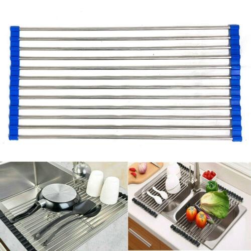 stainless steel over the sink flexible roll