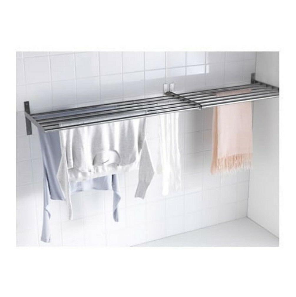 IKEA steel mount rack laundry