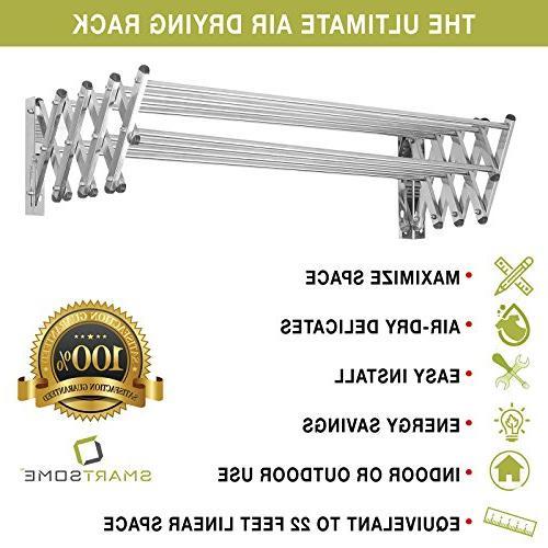 "Stainless Steel Laundry Rack: Fold Dry Racks, to Design Ft, Extended Size: 34"" X 24"""