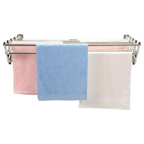 Stainless Steel Wall Expandable Clothes Laundry Drying Rack