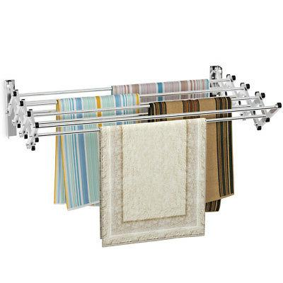 stainless wall mounted expandable drying