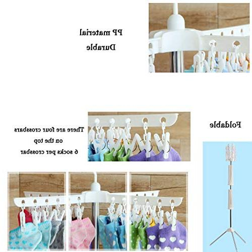 Stand Rack Stainless Steel 32 Bar Holder Laundry 24 Clip Dryers for Indoor