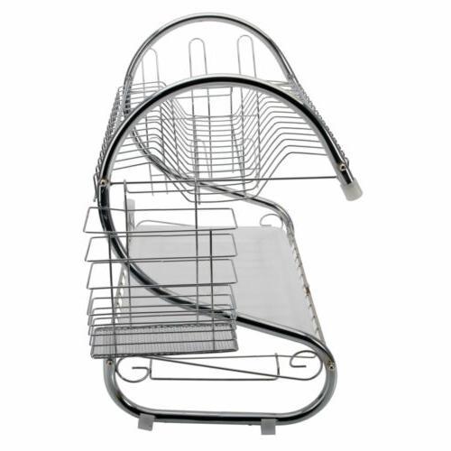 Steel Tier Dish Rack Storage