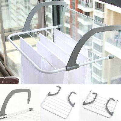 Storage Balcony Telescopic Outdoor Pole Airer Drying Rack Fo