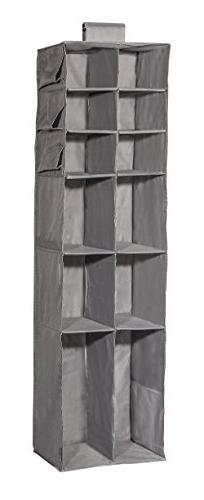 STORAGE MANIAC Hanging Closet Shelf, 16 Shelf Collapsible Ac