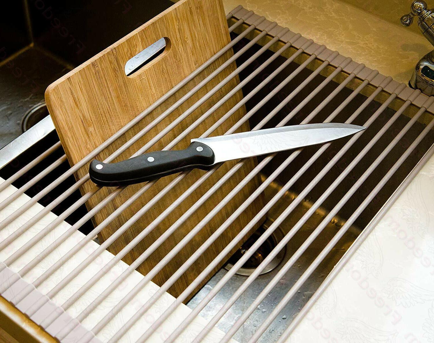 Surpahs Over Sink Multipurpose Roll-Up Dish Drying Rack
