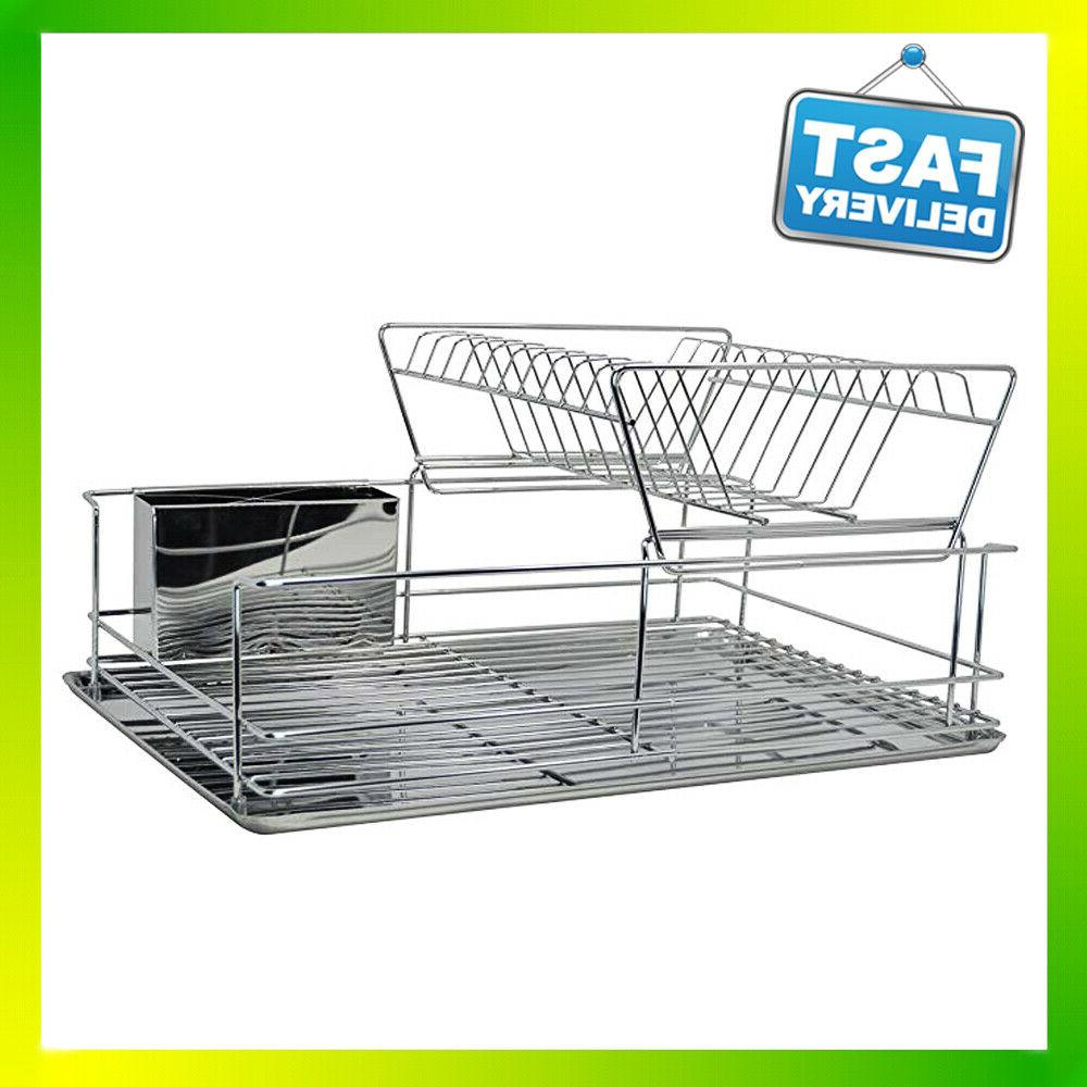 sweet home collection dish drainer drying rack