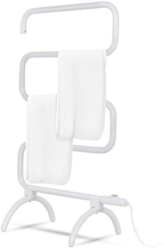 Heated Drying Rack Electric Bathroom Hang Clothes Wall