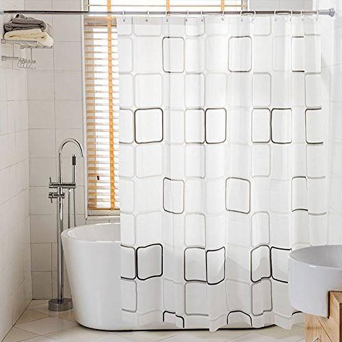 tension rod shower curtain