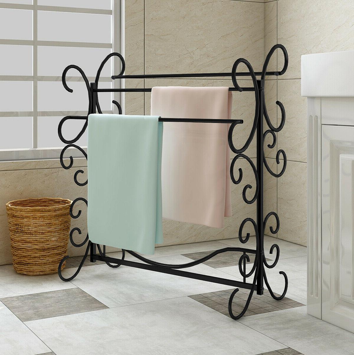 Towel Warmer Drying Rack Metal Bathroom Towel Rack Holder &