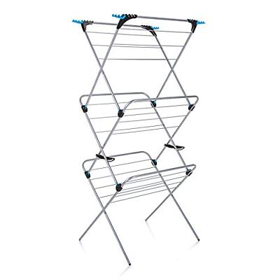 trio concertina plus drying rack 49 silver
