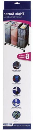 "Homz Triple Laundry Sorter 30.75"" W X 16.5"" D X 30.5"" H Plas"