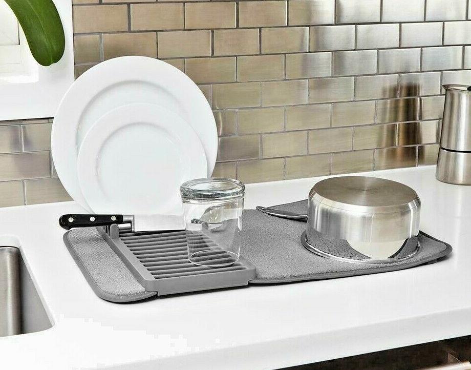 Umbra UDRY Dish Drying Rack and Microfiber
