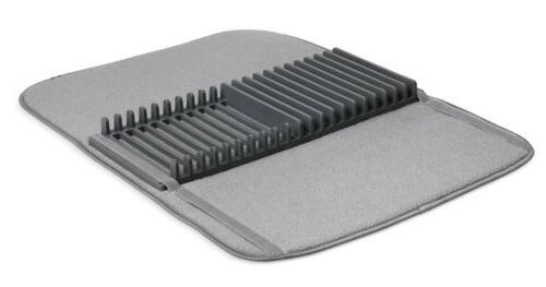 udry dish rack and drying mat charcoal