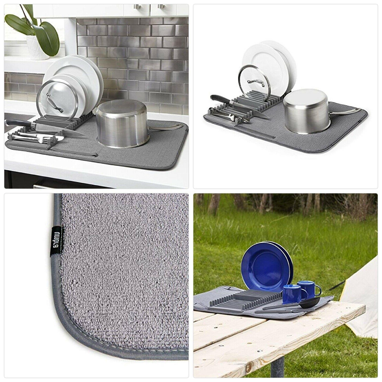 umbra udry drying rack and microfiber dish