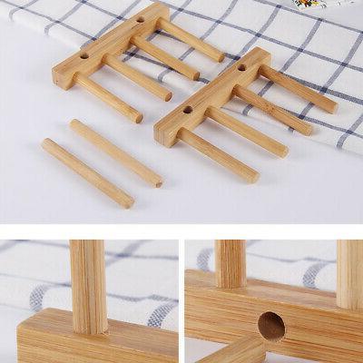 Kitchen Drain Bamboo Shelf Grid