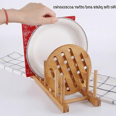 Kitchen Drain Holder Bamboo Rack