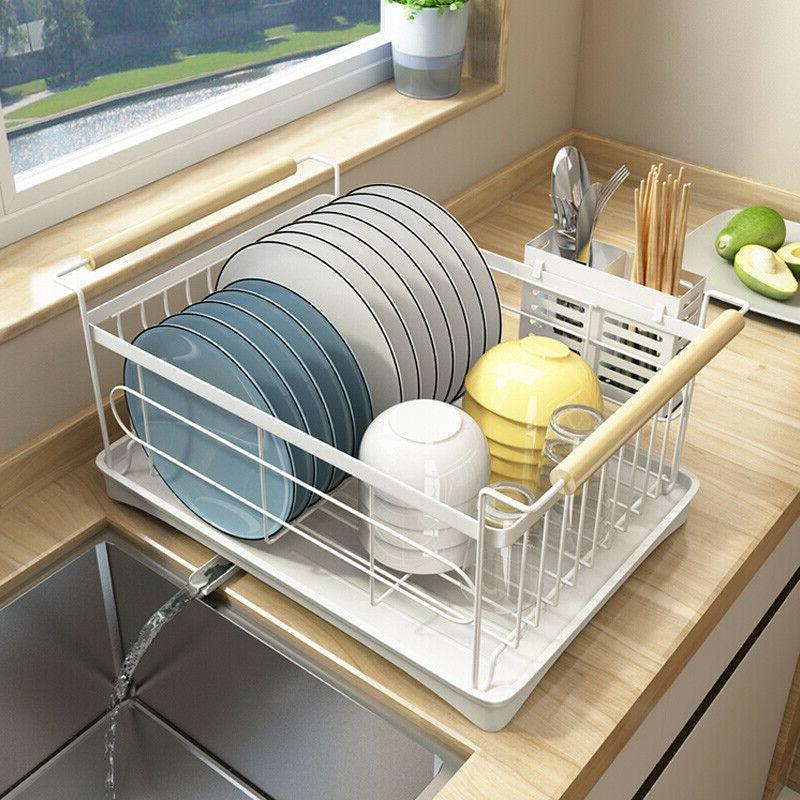 Modern Stainless Steel Kitchen Shelf Dish Drying Rack Storag