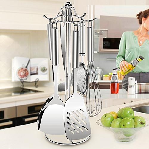 SINGAYE Stand Tools Rack 6 Hooks Spoon,Soup Ladle,Pasta