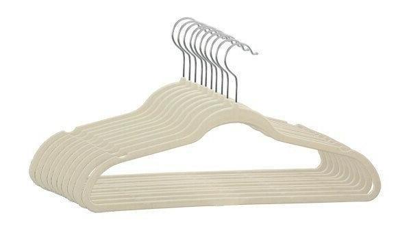 velvet slim hangers ivory fh01697