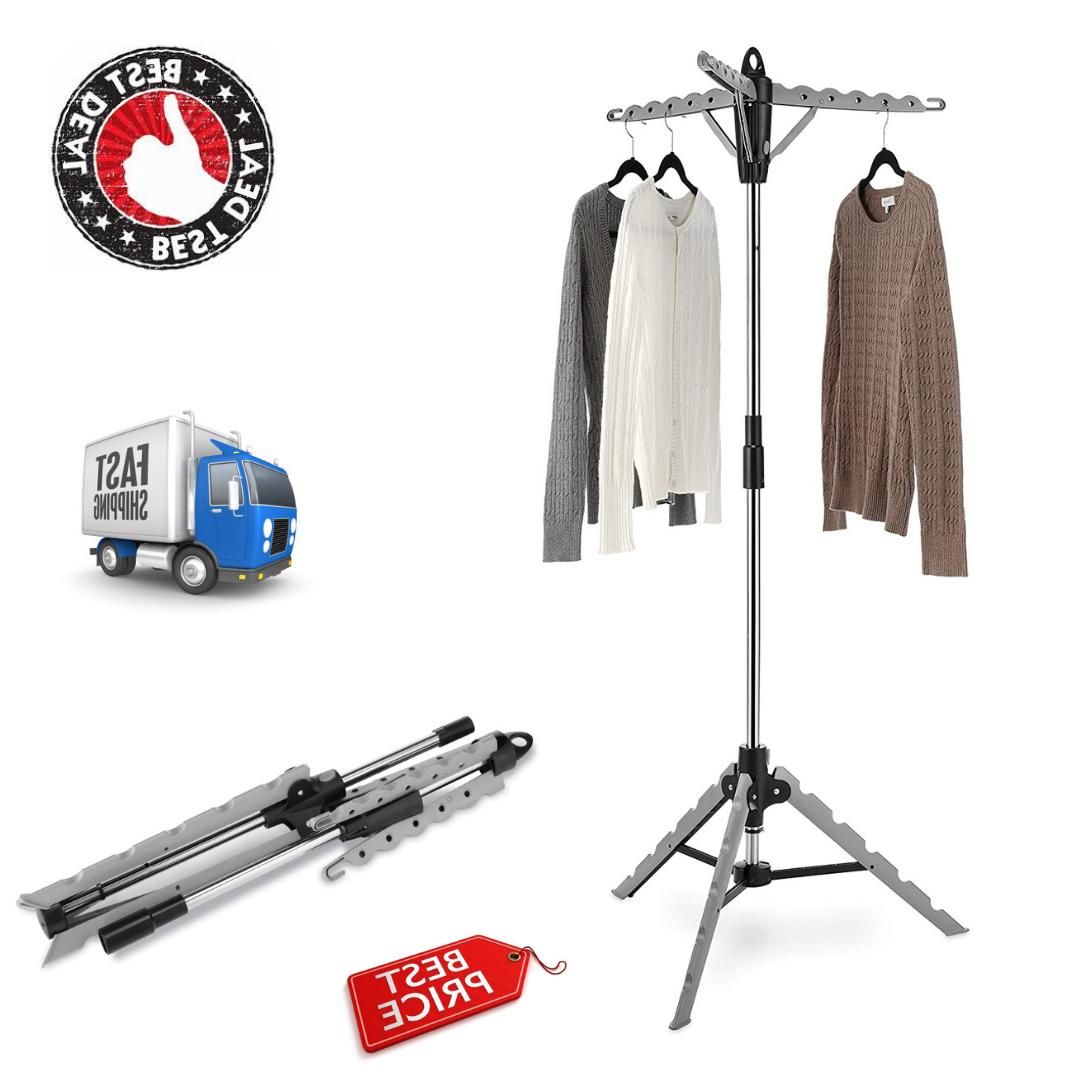 versatile tripod garment and drying rack collapsible