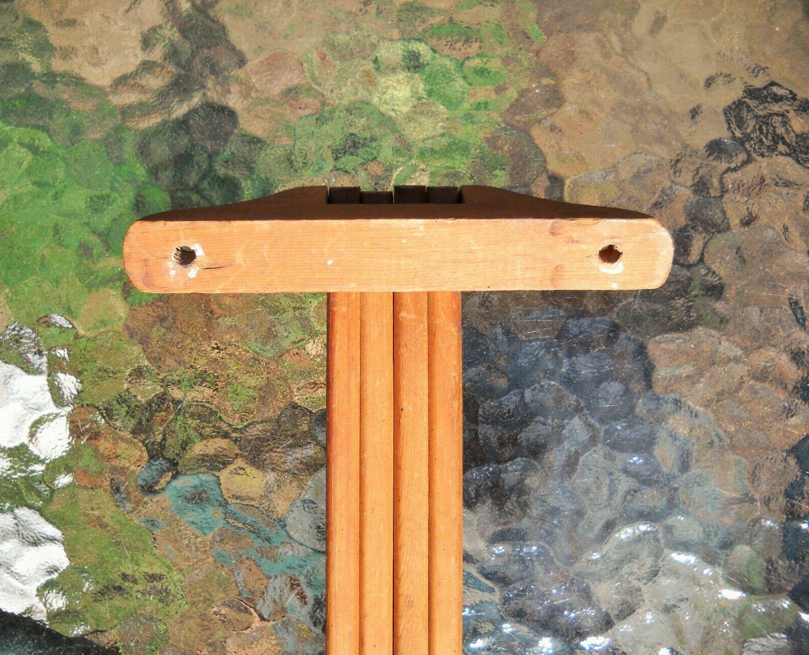 Vintage Wood Towel Swing Arm Wall Mount Drying