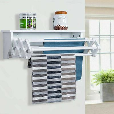 wall mounted drying rack folding clothes towel