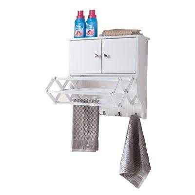 Danya B Wall Mount Cabinet with Accordion Drying Rack