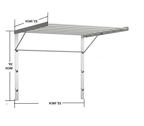 wall mount drying rack 22