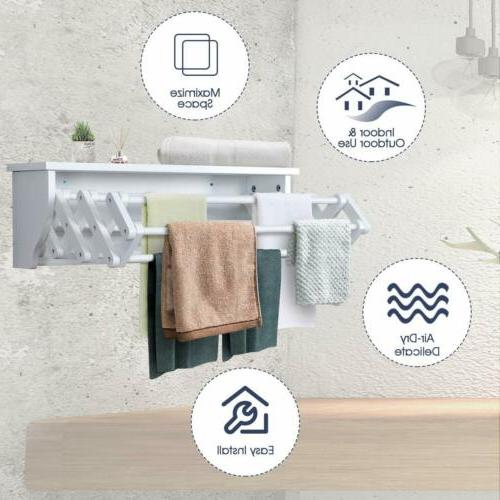 Tangkula Rack Bathroom ExpandableTowel Rack Drying