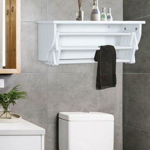 Tangkula Wall Rack Bathroom Home Rack