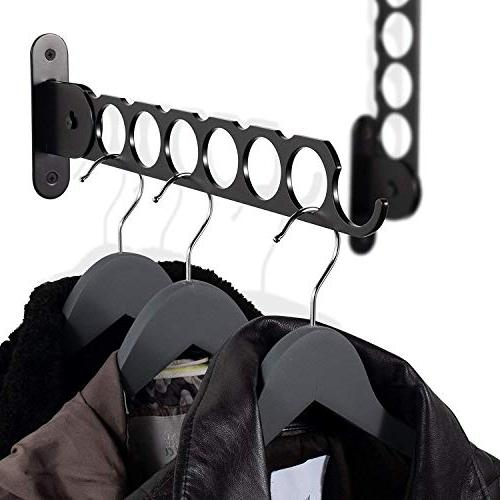 wall mount garment rack holder