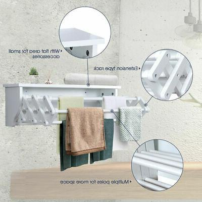 Wall-Mounted Extension Towel Storage Shelf New