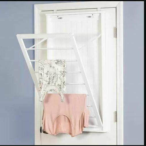 Wall Mounted Clothes Line Drying Rack Space Saver LG Laundry